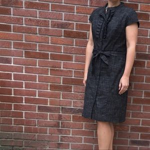 Merona Black Button Down Dress